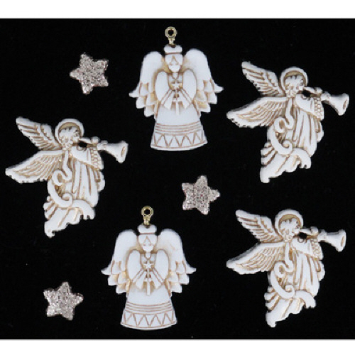 4216-Christmas Bling - Glitter Angels