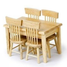 미니어처 식탁+의자4개세트