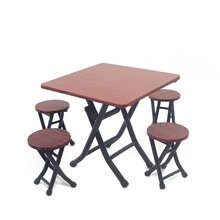 미니어처 접이식 테이블+의자4개 세트