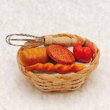 미니어처 빵과과일바구니