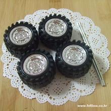 자동차 바퀴 1쌍 (바퀴4개 + 축 2개 set ) - Lsize