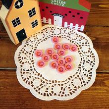 카네이션 무늬 단추 - 핑크 (5개 set)